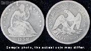Liberty Seated No Motto Half Dollar 1839-1866 Variety 1