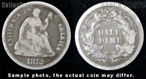 Liberty Seated Legend Half Dimes 1860-1873 (V4) *3 Different Coins