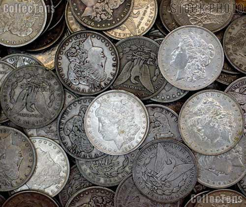Morgan Silver Dollars 1878-1904 5 Coin Circulated Lot VG+ Condition