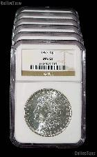 1886 Morgan Silver Dollar in NGC MS 64