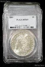 1887 Morgan Silver Dollar in PCGS MS 64