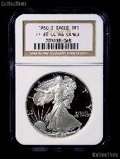 1986-S American Silver Eagle Dollar PROOF in NGC PF 69 ULTRA CAMEO