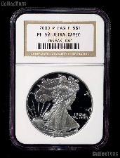 2000-P American Silver Eagle Dollar PROOF in NGC PF 69 ULTRA CAMEO