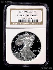 2004-W American Silver Eagle Dollar PROOF in NGC PF 69 ULTRA CAMEO