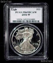 2001-W American Silver Eagle Dollar PROOF in PCGS PR 69 DCAM