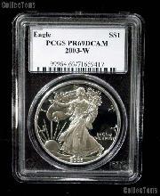 2003-W American Silver Eagle Dollar PROOF in PCGS PR 69 DCAM
