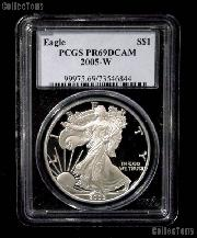 2005-W American Silver Eagle Dollar PROOF in PCGS PR 69 DCAM