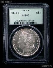 1879-S Morgan Silver Dollar in PCGS MS 65