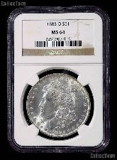 1885-O Morgan Silver Dollar in NGC MS 64