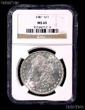 1887 Morgan Silver Dollar in NGC MS 64