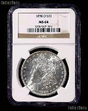 1898-O Morgan Silver Dollar in NGC MS 64