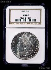 1882-S Morgan Silver Dollar in NGC MS 64