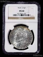1901-O Morgan Silver Dollar in NGC MS 64