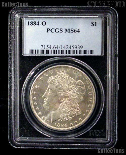 1884-O Morgan Silver Dollar in PCGS MS 64