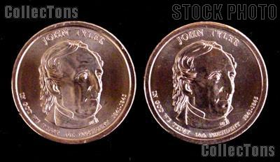 2009 P&D John Tyler Presidential Dollar GEM BU 2009 Tyler Dollars