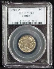1938-D Buffalo Nickel in PCGS MS 65