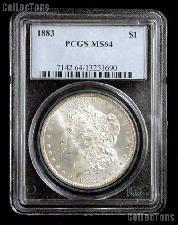 1883 Morgan Silver Dollar in PCGS MS 64