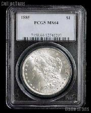 1885 Morgan Silver Dollar in PCGS MS 64