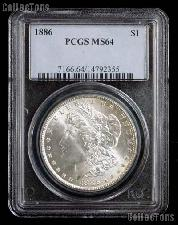 1886 Morgan Silver Dollar in PCGS MS 64