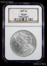 1888 Morgan Silver Dollar in NGC MS 64