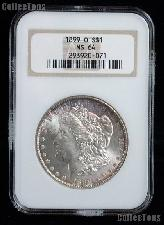1899-O Morgan Silver Dollar in NGC MS 64