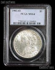 1902-O Morgan Silver Dollar in PCGS MS 64