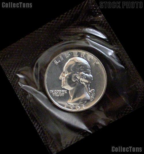 1961 Proof Washington Silver Quarters in Mint Cello