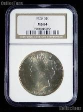 1925 Peace Silver Dollar in NGC MS 64