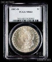 1882-O Morgan Silver Dollar in PCGS MS 63