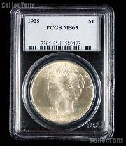 1925 Peace Silver Dollar in PCGS MS 65