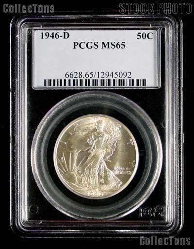1946-D Walking Liberty Half Dollar in PCGS MS 65