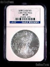 2008 American Silver Eagle Dollar EARLY RELEASES in NGC MS 69