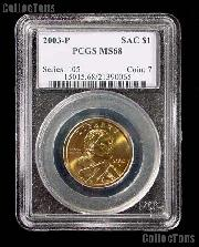 2003-P Sacagawea Golden Dollar in PCGS MS 68