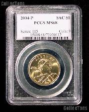 2004-P Sacagawea Golden Dollar in PCGS MS 68