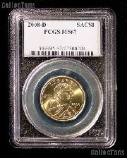 2008-D Sacagawea Golden Dollar in PCGS MS 67