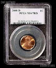 2008-D Lincoln Memorial Cent in PCGS MS 67 Red