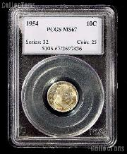 1954 Roosevelt Dime in PCGS MS 67