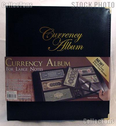 Whitman Premium Currency Album for Large Size Notes