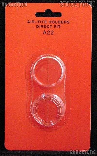 """Air-Tite Coin Capsule Direct Fit """"A22"""" Coin Holder 1/4oz GOLD EAGLE"""