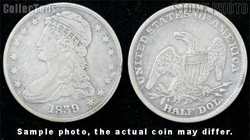 Capped Bust Reeded Edge Half Dollar 1836-1839