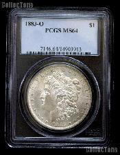 1883-O Morgan Silver Dollar in PCGS MS 64
