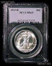 1942-D Walking Liberty Half Dollar in PCGS MS 65