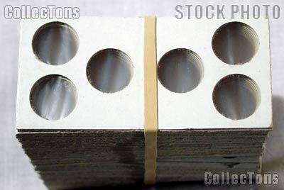 100 2x2 Cardboard Coin Holders 3-COIN SET