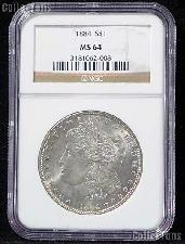 1884 Morgan Silver Dollar in NGC MS 64