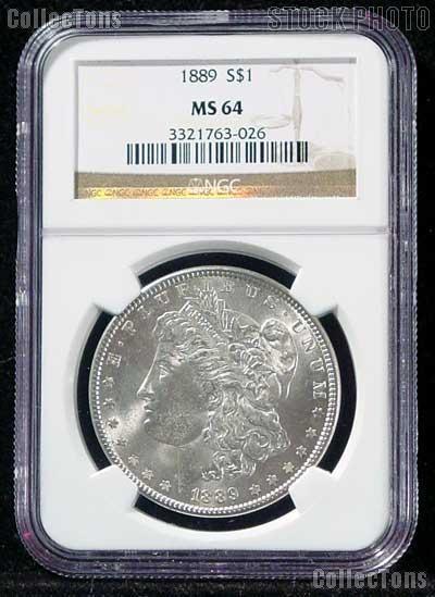 1889 Morgan Silver Dollar in NGC MS 64