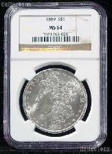 1889 Morgan Silver Dollar in NGC MS 64