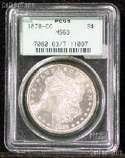 1878-CC Morgan Silver Dollar in PCGS MS 63