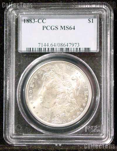 1883-CC Morgan Silver Dollar in PCGS MS 64