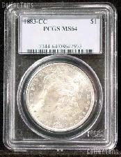 1883-CC Morgan Silver Dollar in PCGS MS 64