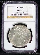 1900-O Morgan Silver Dollar in NGC MS 64